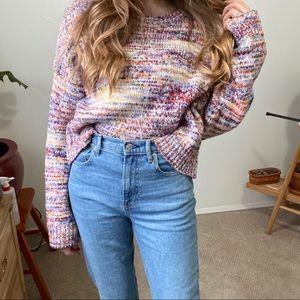 ✨host pick✨Multicoloured knit oversized sweater